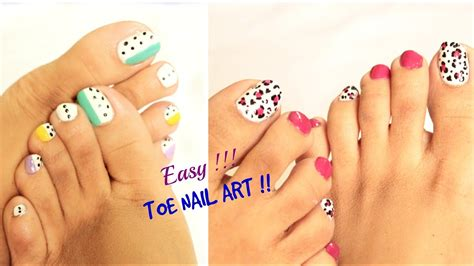 Toenail Designs Step By Step 2 easy and toe nail designs tutorial