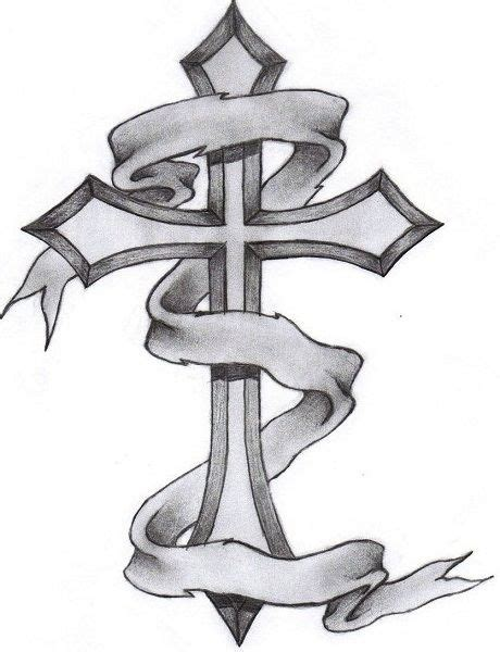 how to draw a cross tattoo cross tattoos for cross drawing and