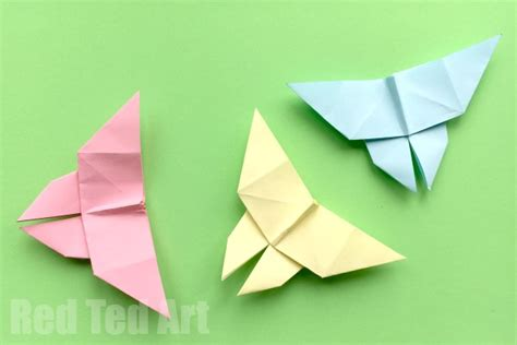 Easy Origami Butterfly - how to make an origami butterfly simple ted s