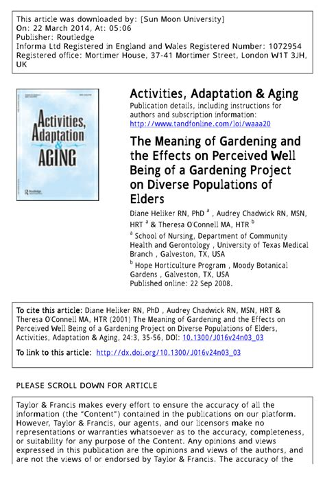meaning of activities of gardening pdf the meaning of gardening and the effects on perceived well being of a gardening project on
