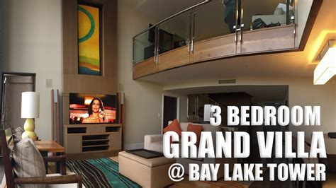 bay lake tower 3 bedroom villa 3 bedroom grand villa at bay lake tower youtube