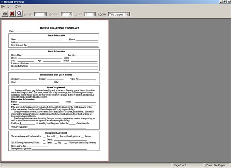 pet sitting contract template service agreement form for
