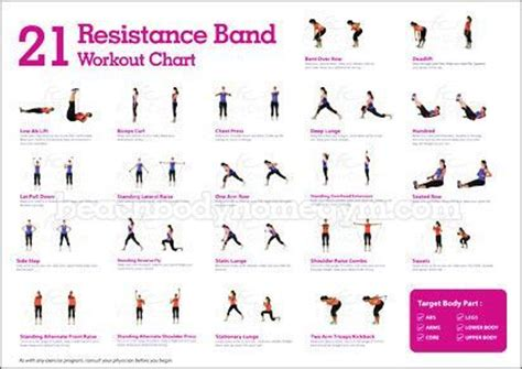 printable exercise band workouts resistance band exercises google search fitness