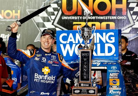 kyle racing books motor n busch sweeps at nascar bristol race