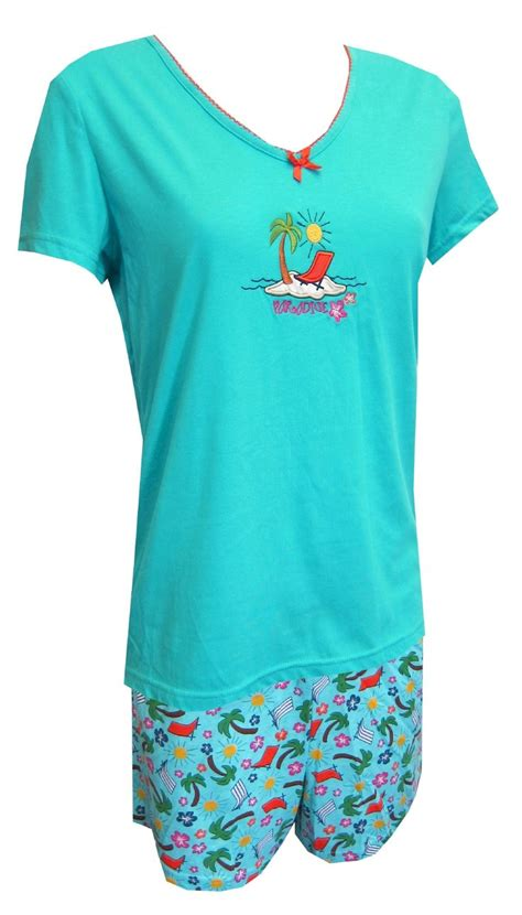 Scanty Sun V Neck Pajama Set by Paradise On The Pajama Set Where Is Your Paradise