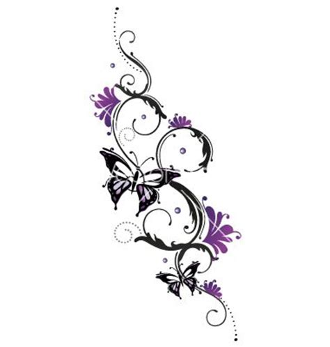 design flower and butterfly tribal flower butterfly tattoo style vector 1534748 jpg