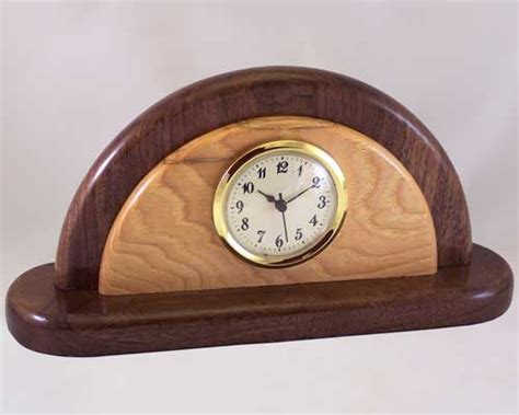 Handcrafted Wood Clocks - wooden clock desk clocks decorative wood desk clocks
