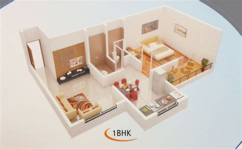 home interior design for 1bhk flat 1bhk and 2 bhk flats for sale at yashwant vaibhav vasai