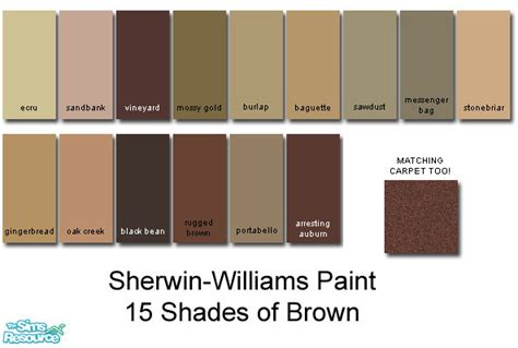 sherwin williams browns brown hairs