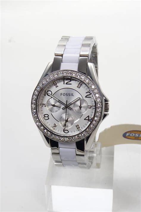 Fossil Blade Silverwhite fossil s es3526 silver white rhinestone wristwatch new ebay