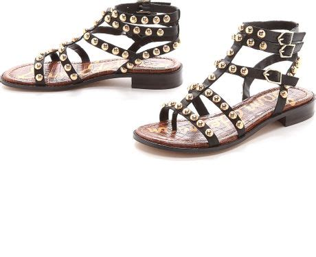 sam edelman studded sandals sam edelman eavan studded gladiator sandals black in