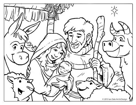 christmas coloring pages of nativity scene ian dale art design blog