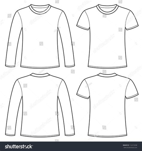 Longsleeved Tshirt Tshirt Template Stock Vector 112215338 Shutterstock Sleeve T Shirt Template