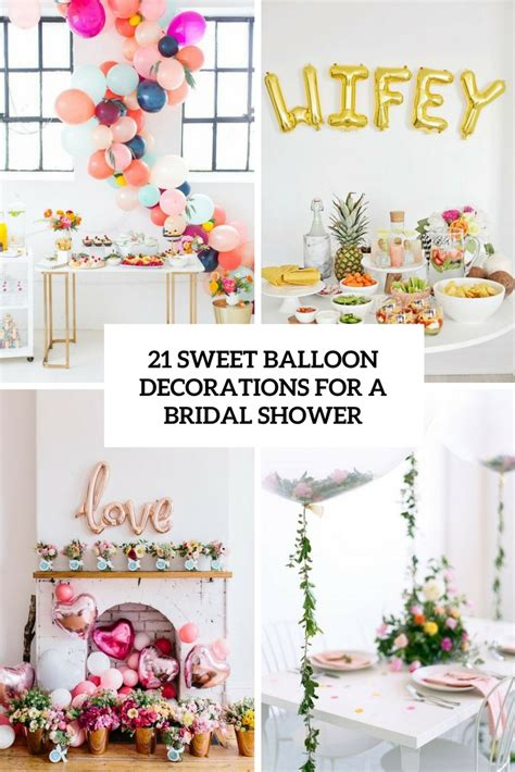 Letter Home Decor 21 Sweet Balloon Decorations For A Bridal Shower Shelterness