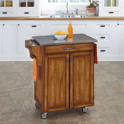 home styles create a cart warm oak kitchen cart with home styles create a cart warm oak kitchen cart with