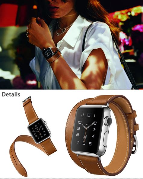 Apple 38mm 42mm Hermes Tour Wrist Leather Premium genuine leather band tour bracelet for iwatch 38mm 42mm ebay