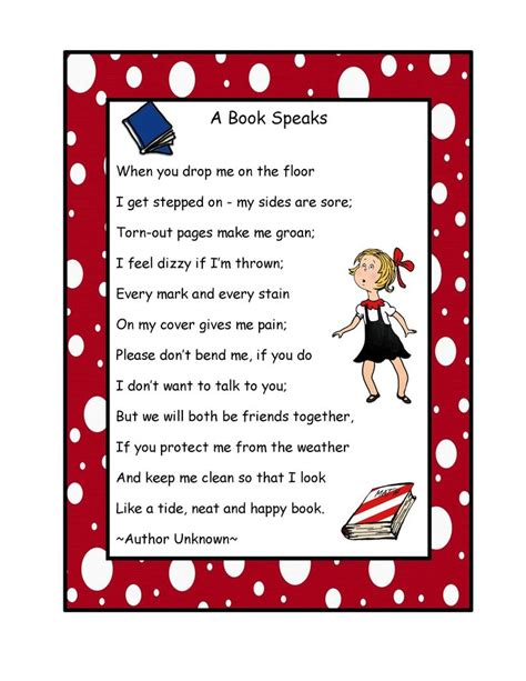 printable book poster free book poem poster preschool printables by gwyn