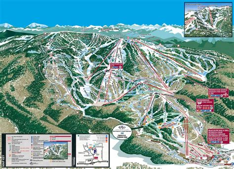 colorado ski resorts map steamboat ski resort map