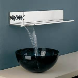 wall mounted waterfall faucets for vessel sinks embellish your bathrooms with these 20 styles of faucets