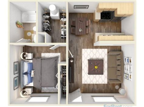 one bedroom efficiency apartments 15 smart studio apartment floor plans page 3 of 3
