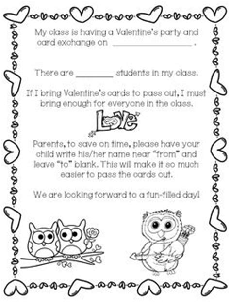 Gift Exchange Letter To Parents 17 Best Images About Valentines On Valentines Day Word Search And Valentines