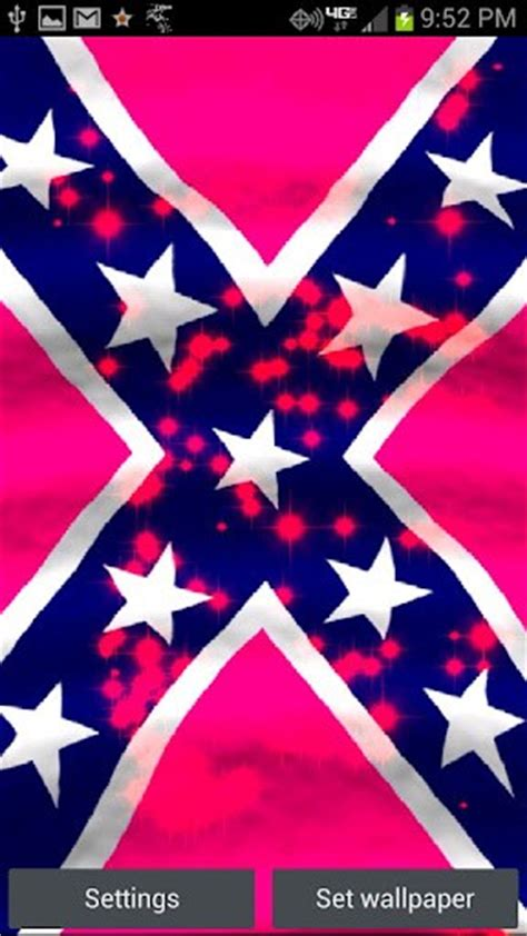 rebel flag wallpaper for android pink rebel flag live wallpaper for android appszoom