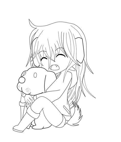 chibi dog coloring page cute chibi base pose coloring coloring pages