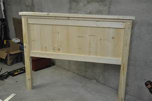 Full Bed Headboard Footboard Free Plans For Making A Queen Size Farmhouse Bed A