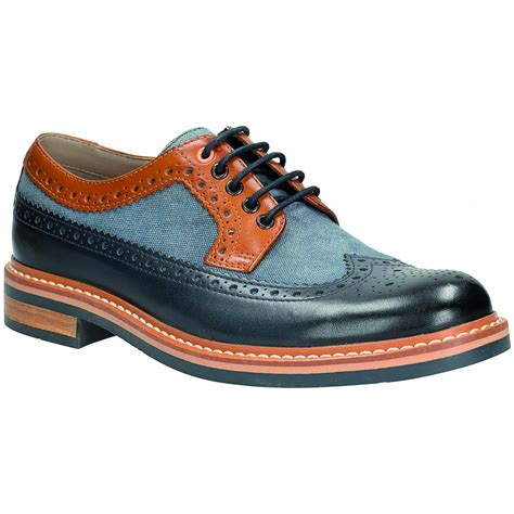 Blus Combi 5 by Mens Darby Limit Blue Combi 5 Eyelet Brogue Shoe