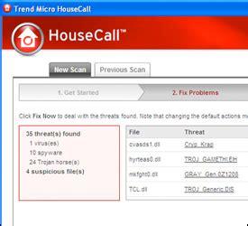housecall trend top free anti virus trend micro housecall 7 1