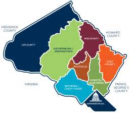 map montgomery county color moco areas map image dc bound