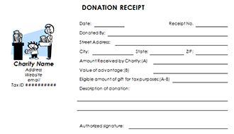 church donation tax receipt template nonprofit donation receipt template