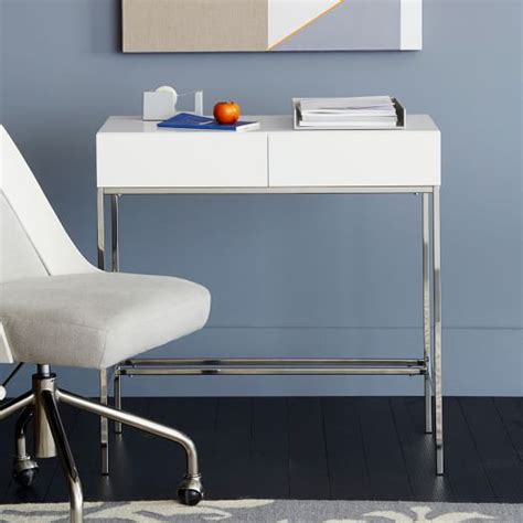 Mini Desk by Lacquer Storage Mini Desk West Elm