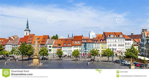 A Place You Enjoy Visiting View Of The Historical City Centre Of Erfurt Germany Editorial Stock Photo Image 54411393