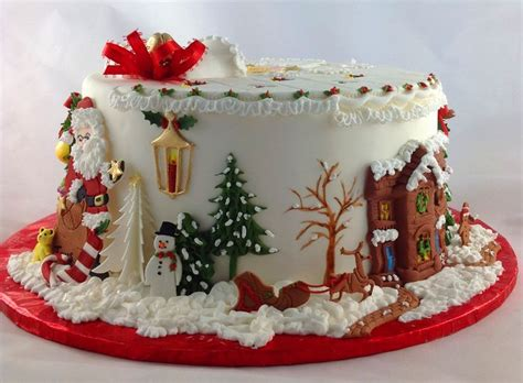 1654 best christmas cakes images on pinterest christmas