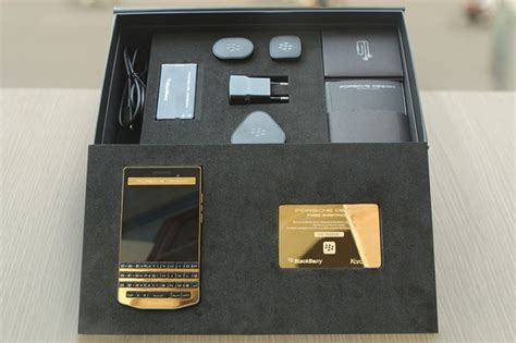 blackberry porsche design 2 440 buys you a gold plated blackberry porsche design p
