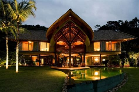 nature themed house inspired by nature stunning leaf house in brazil