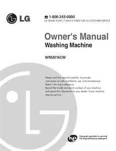 Lg Pedestal Parts Lg Electronics Washer Wm2016c User S Guide Manualsonline Com