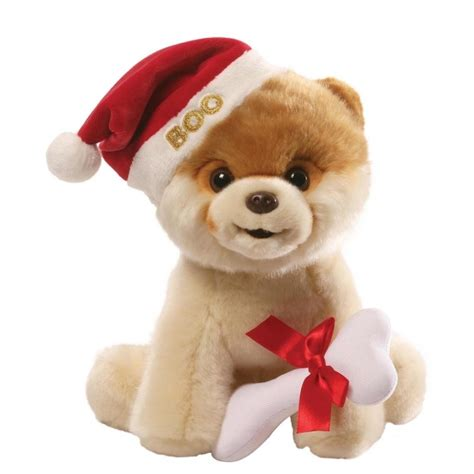 boo the dog christmas gund boo with santa hat the worlds cutest soft threelittlebears co uk