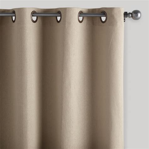 cotton draperies natural bori cotton grommet top curtains set of 2 world