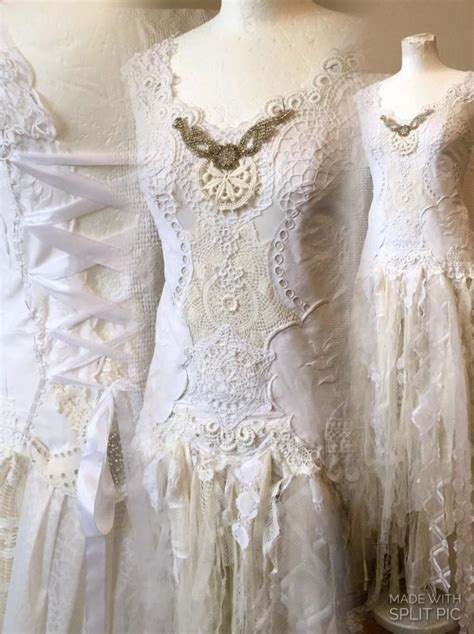 Wedding Hair Accessories Lace Dress by Handmade Wedding Dress Unique Boho Wedding Dress Lace
