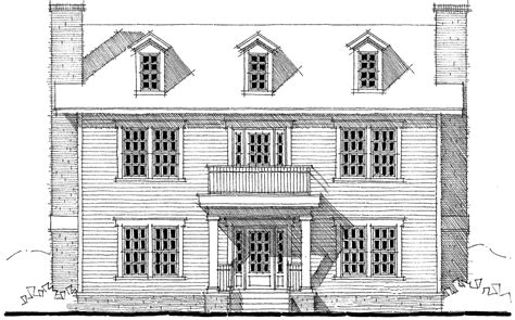 Center Hall Colonial Floor Plans by Center Hall Colonial House Plan 44045td 2nd Floor