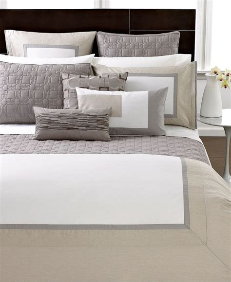 hotel collection modern block bedding collection