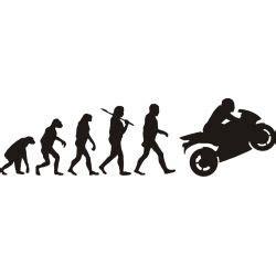 Papier Autocollant Transparent 5619 evolution de l homme et la moto sportive sticker autocollant