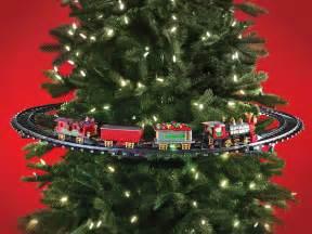 in tree christmas train the green head