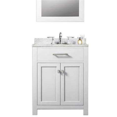 white 24 inch single sink bathroom vanity