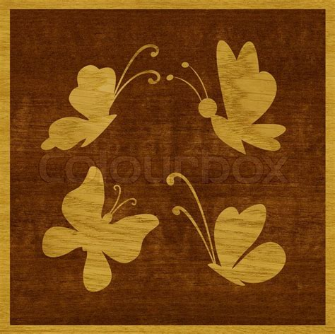 Intarsien Vorlagen Muster Intarsien Schmetterlinge Aus Eschenholz Furniert Vor Dem Hintergrund Der Domorifett Holz