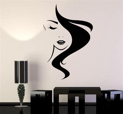 vinyl wall stickers beauty hair vinyl wall decal salon studio girl hairdresser