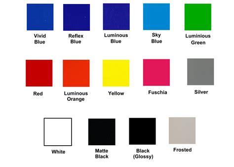 color options bronco ii corral vinyl cut decal color options