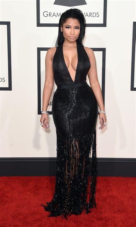 Catwalk To Carpet Grammy Awards by 2015 Grammys Nicki Minaj Slays In Plunging Black Tom Ford